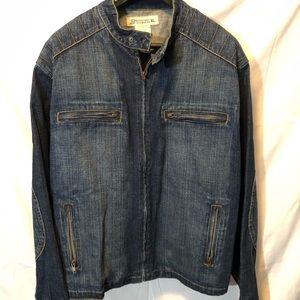Bongo biker denim jean jacket. Size XL.